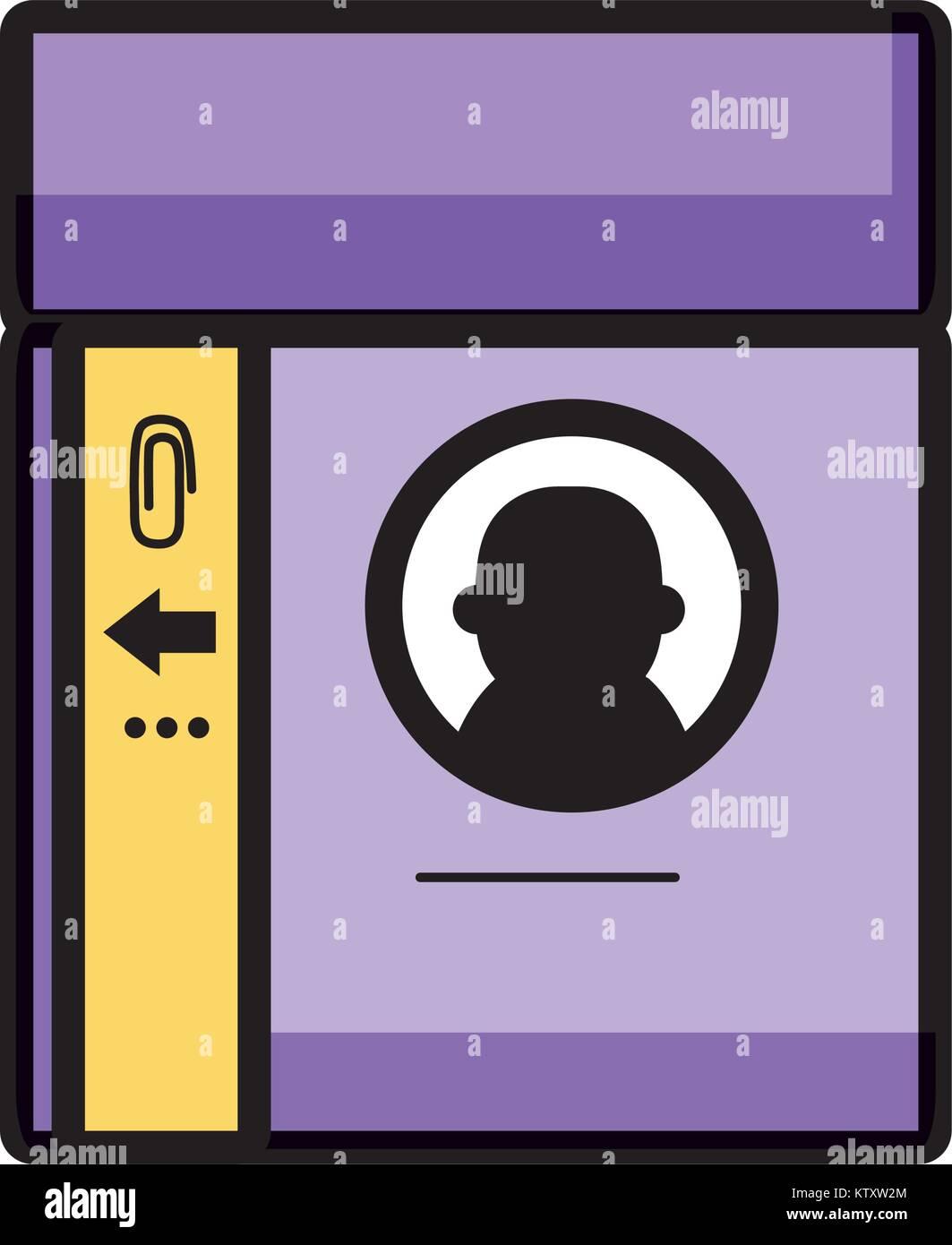 Personal Identification Card Access Id Stockbild