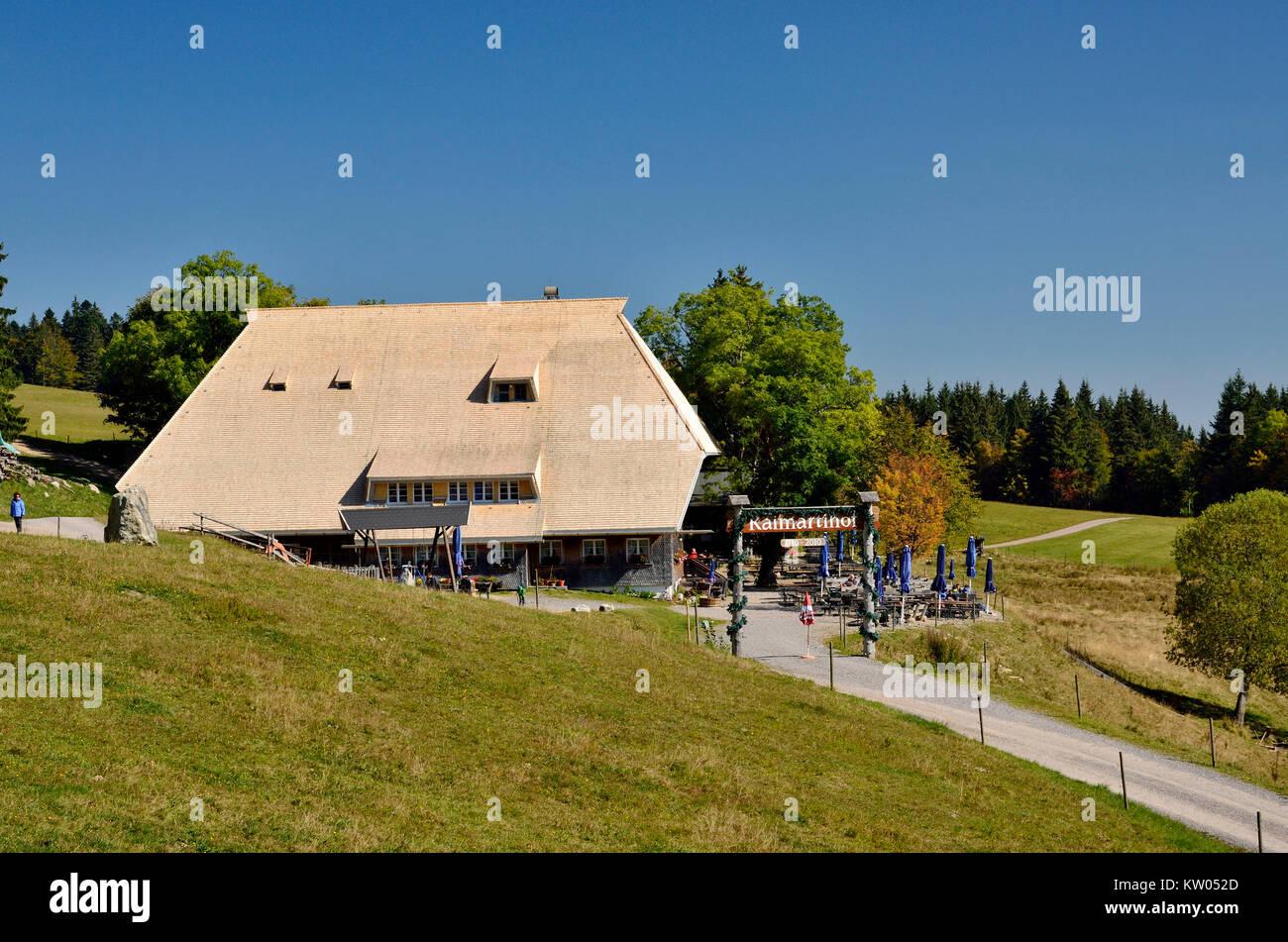 Schwarzwald, Feld Berg, ehemaliger Bauernhof, jetzt Raimarti Mountain Inn, Schwarzwald, Feldberg, ehemaliger Bergbauernhof Stockbild