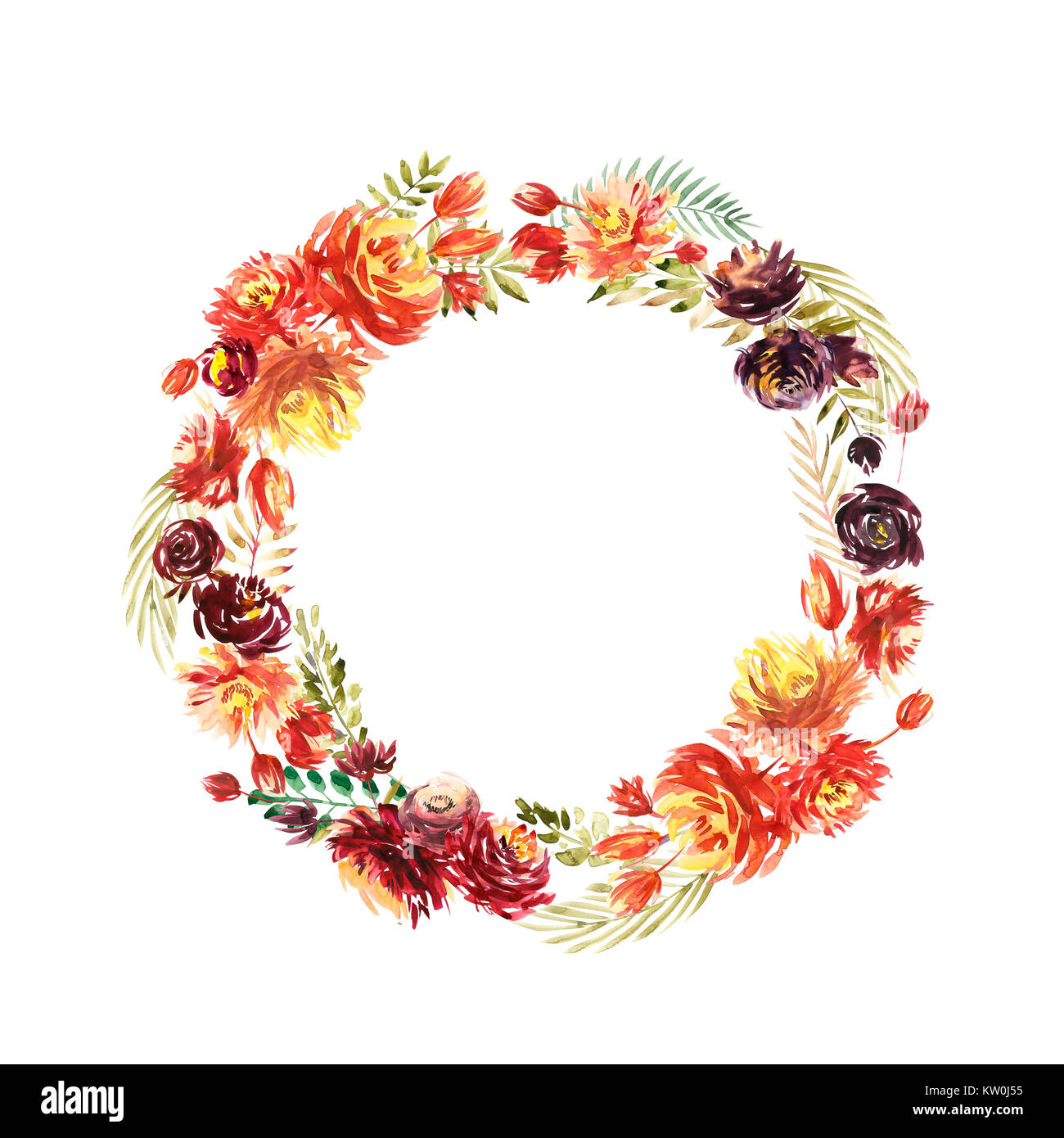 Vintage Karte, Aquarell Einladung Hochzeit Design Mit Rote Pfingstrose,  Verlässt. Blume Hintergrund Mit Floralen Elementen Für Text, Aquarell  Hintergrund.