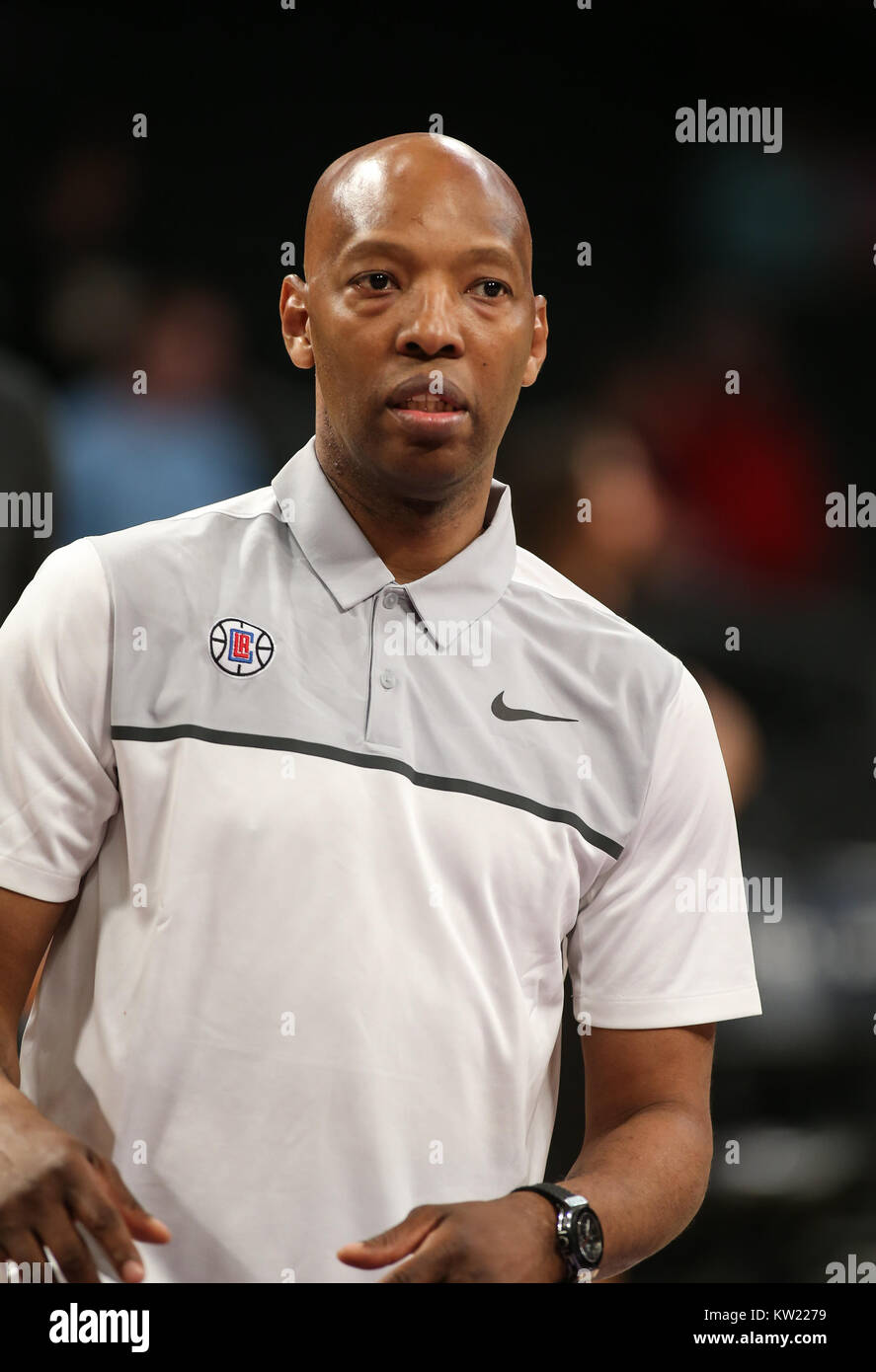 Los Angeles, CA, USA. 29 Dez, 2017. LA Clippers Assistant Coach SAM Cassell, bevor die Los Angeles Clippers vs Los Stockfoto