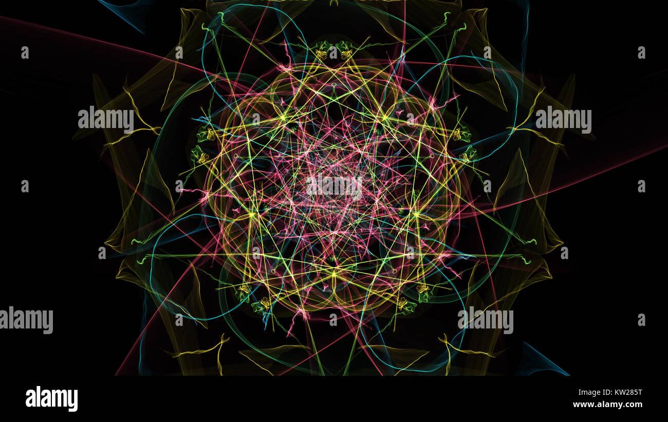 Zusammenfassung Hintergrund für Design. Seide Symmetrie Serie. Stockbild