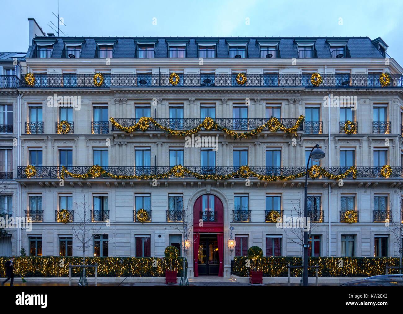 Die Aussenseite Des La Reserve Hotel Paris Frankreich Stockfoto