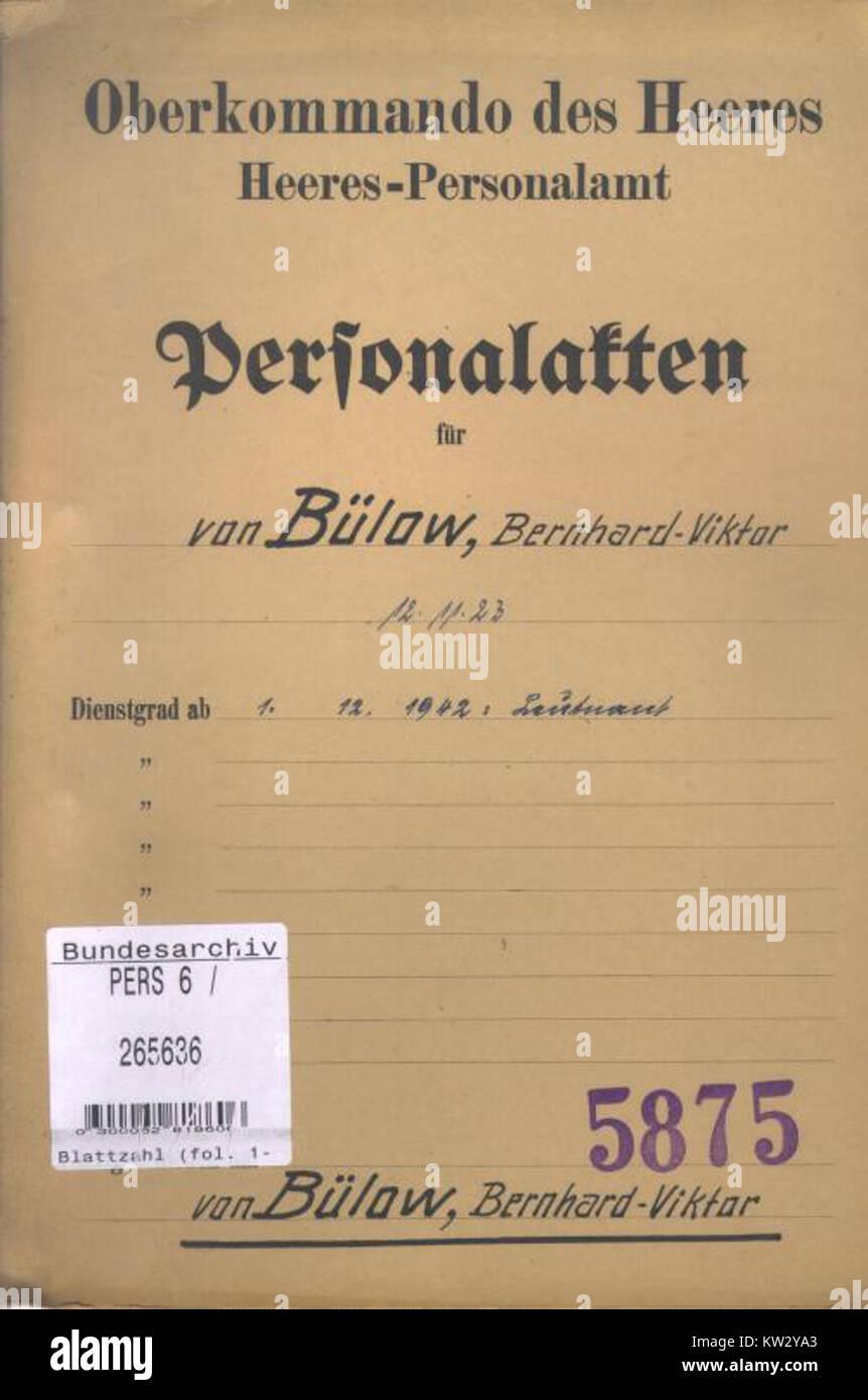 Loriot Personalakte Deckblatt Stockfoto Bild 170325067 Alamy