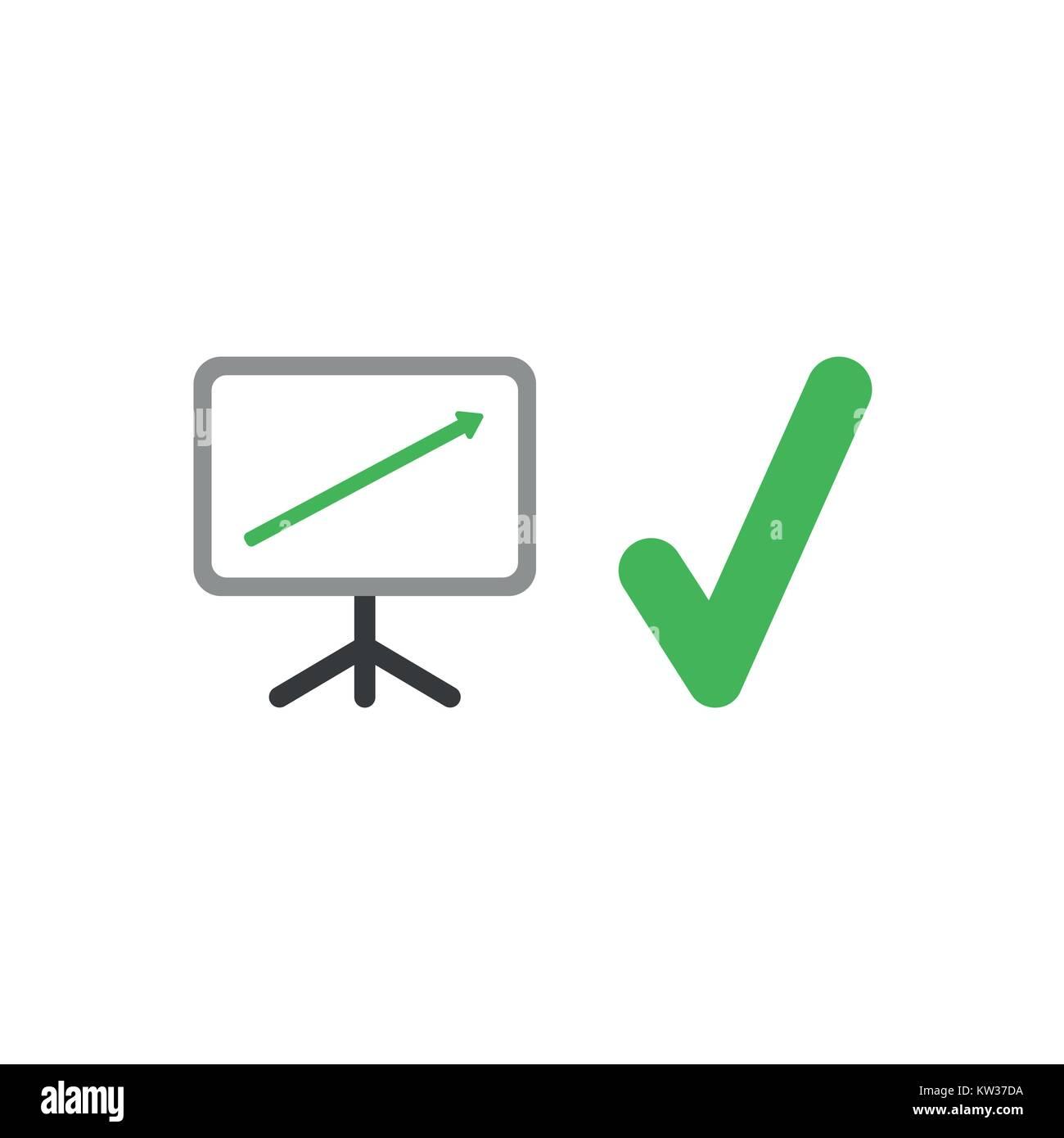 Flache design Vector Illustration Konzept der Verkaufspräsentation ...