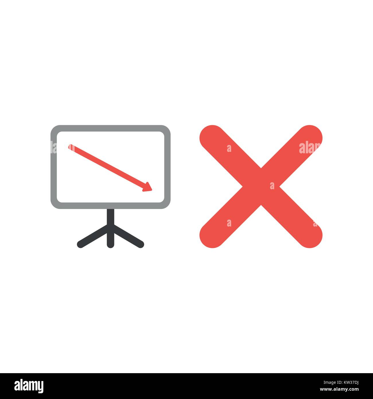 Sales Bar Chart Flat Icon Stockfotos & Sales Bar Chart Flat Icon ...