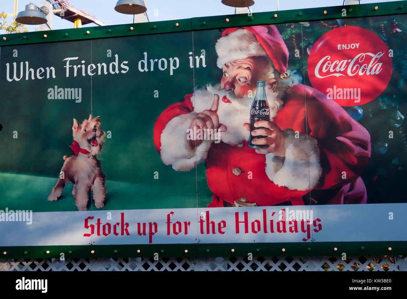 Coca Cola Werbung Weihnachten.Usa Virginia Williamsburg Va Weihnachten Urlaub In Busch