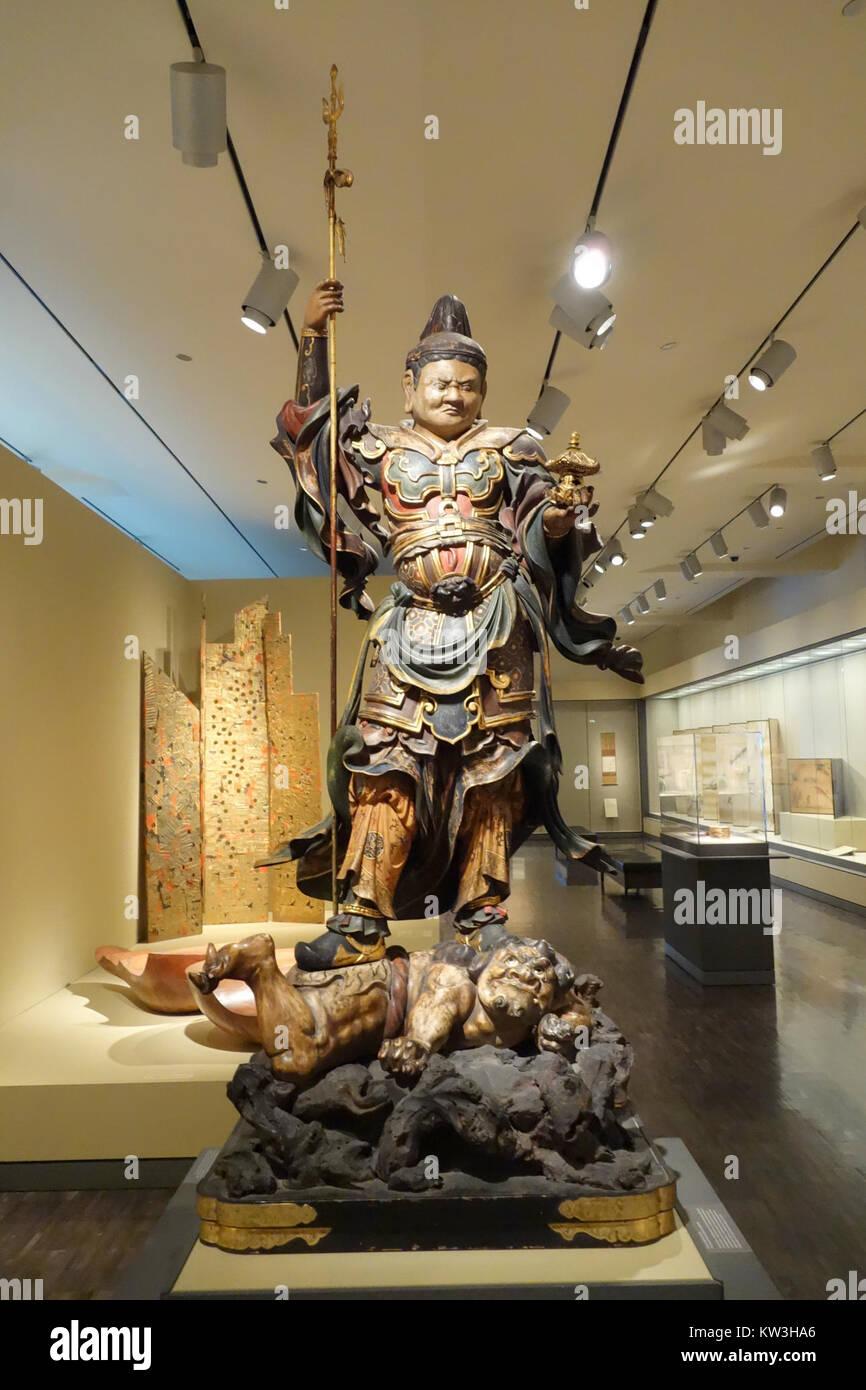 Bishamonten Vaishravana Guardian König Des Nordens Japan Edo