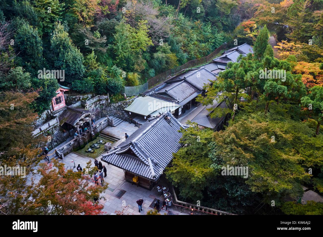Japan, Honshu Island, Region Kansai, Kyoto, Kiyomizu-dera Tempel, UNESCO Weltkulturerbe Stockfoto