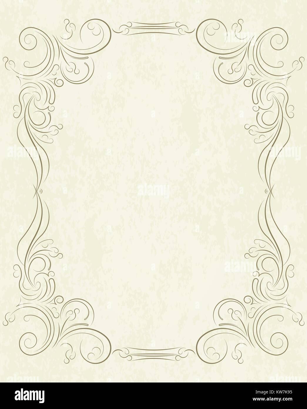 Alte Rahmen im Alter von Papier mit leeren Raum für Text. Retro ...