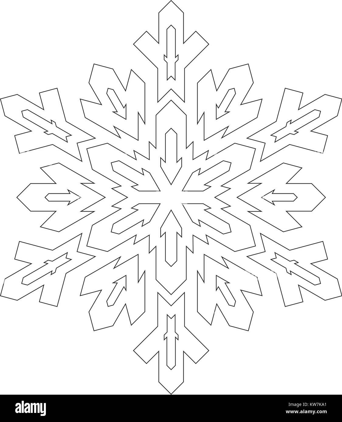 Ungewöhnlich Frei Druckbare Schneeflocke Vorlage Bilder - Entry ...