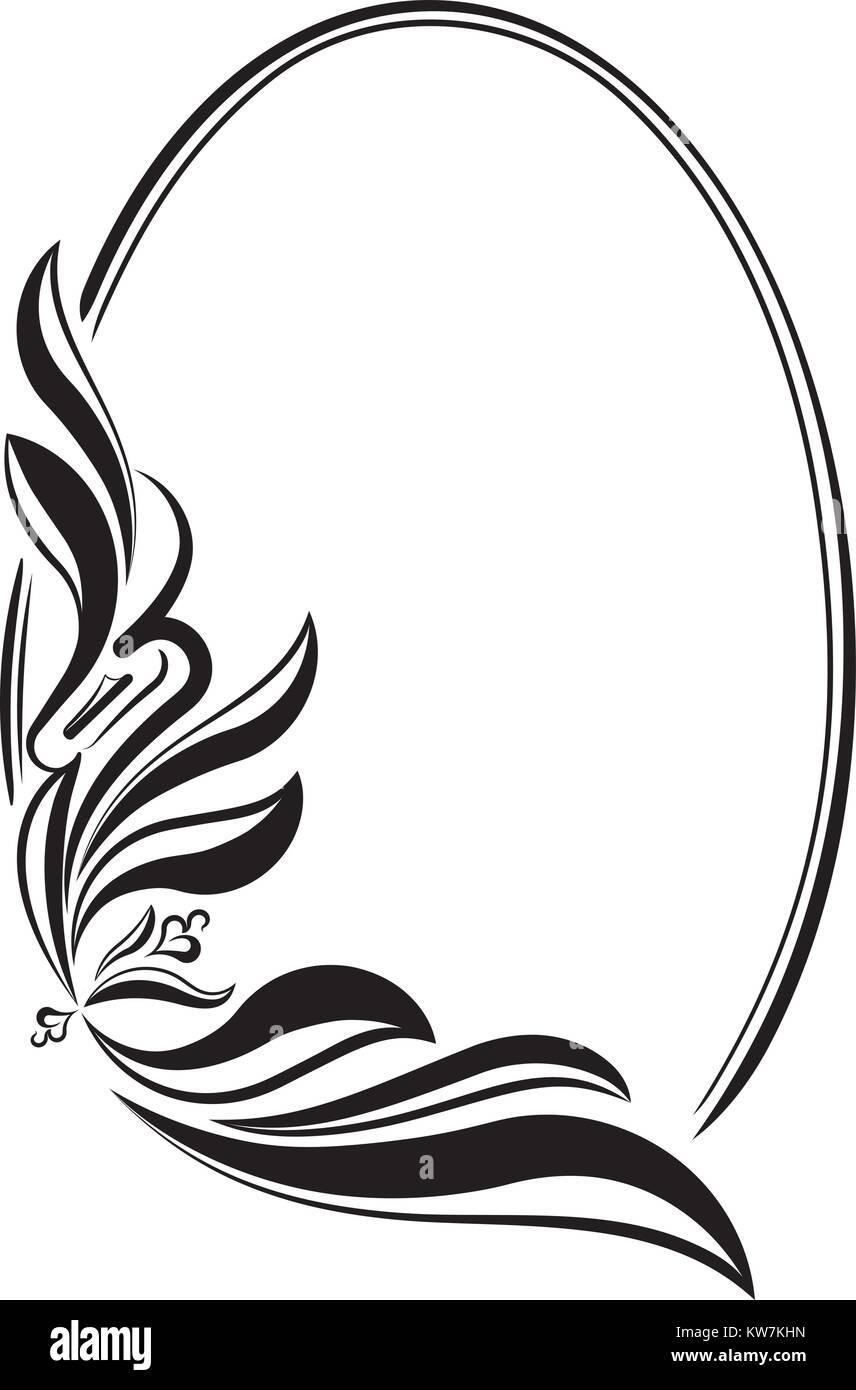 Eleganten ovalen Rahmen. Vektor Vektor Abbildung - Bild: 170428769 ...