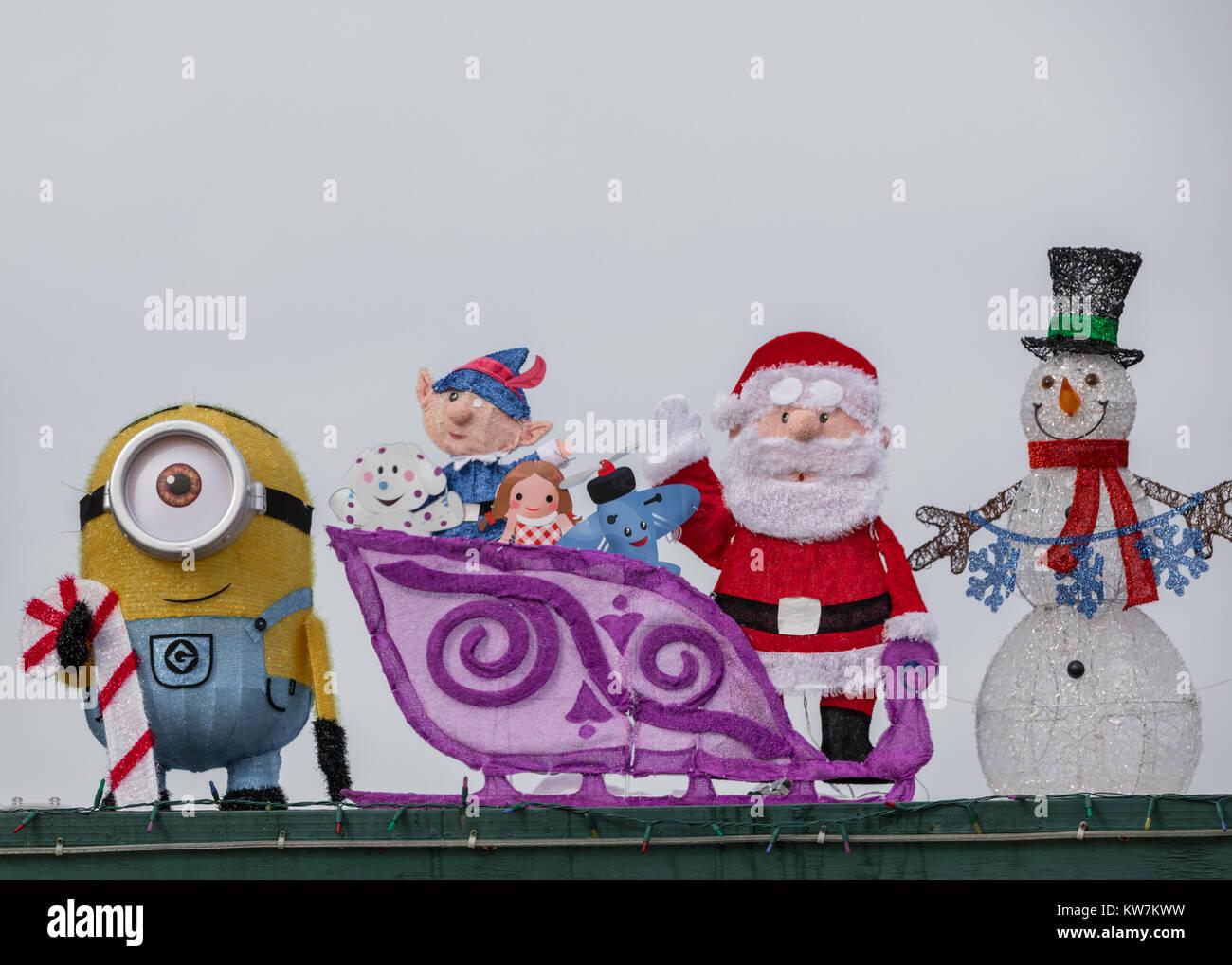 Mehrere weihnachten Zeichen von Weihnachten TV-Shows auf dem Display ...