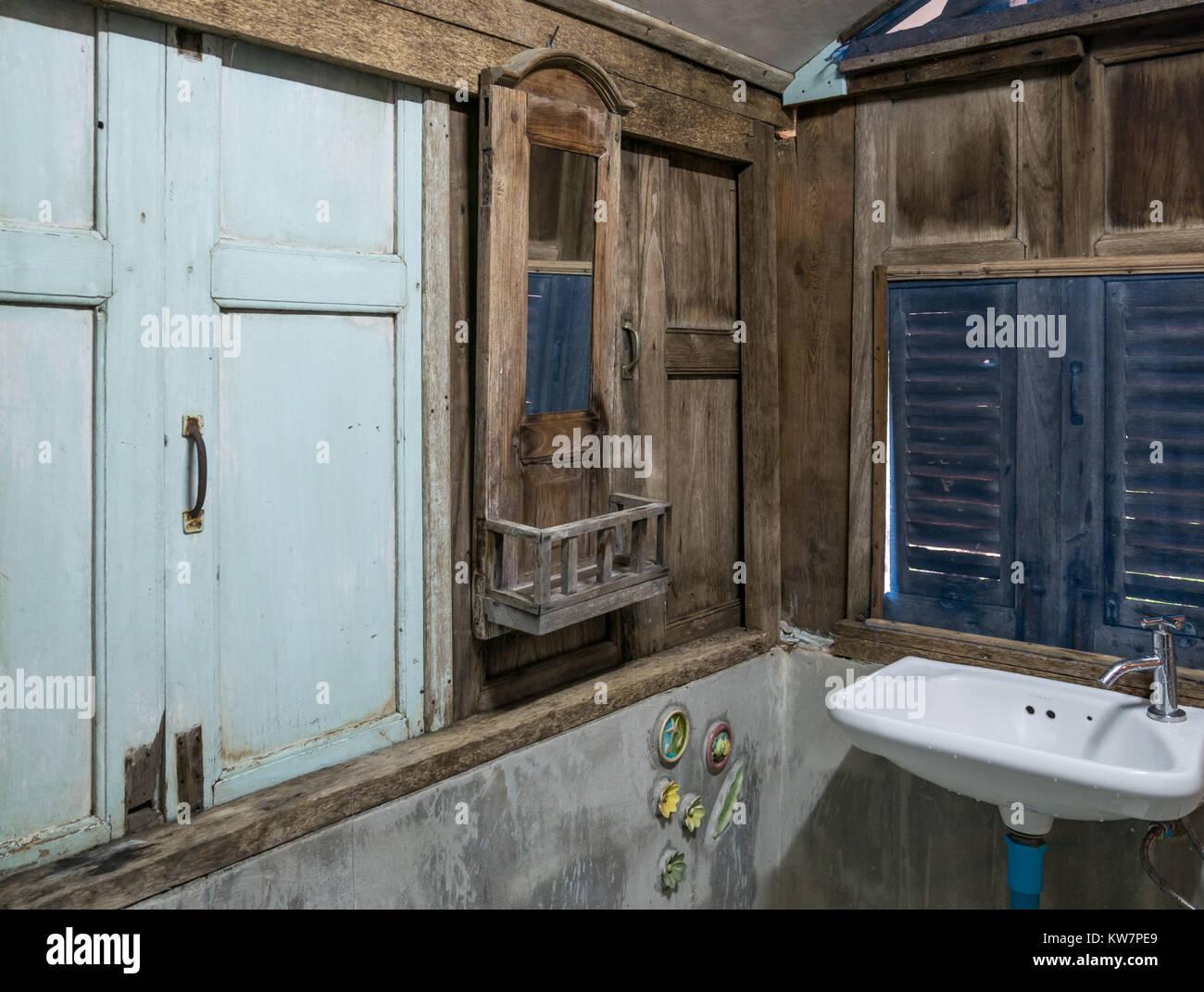 Vintage Style Von Badezimmer Einrichtung In Thailland Resort Oder