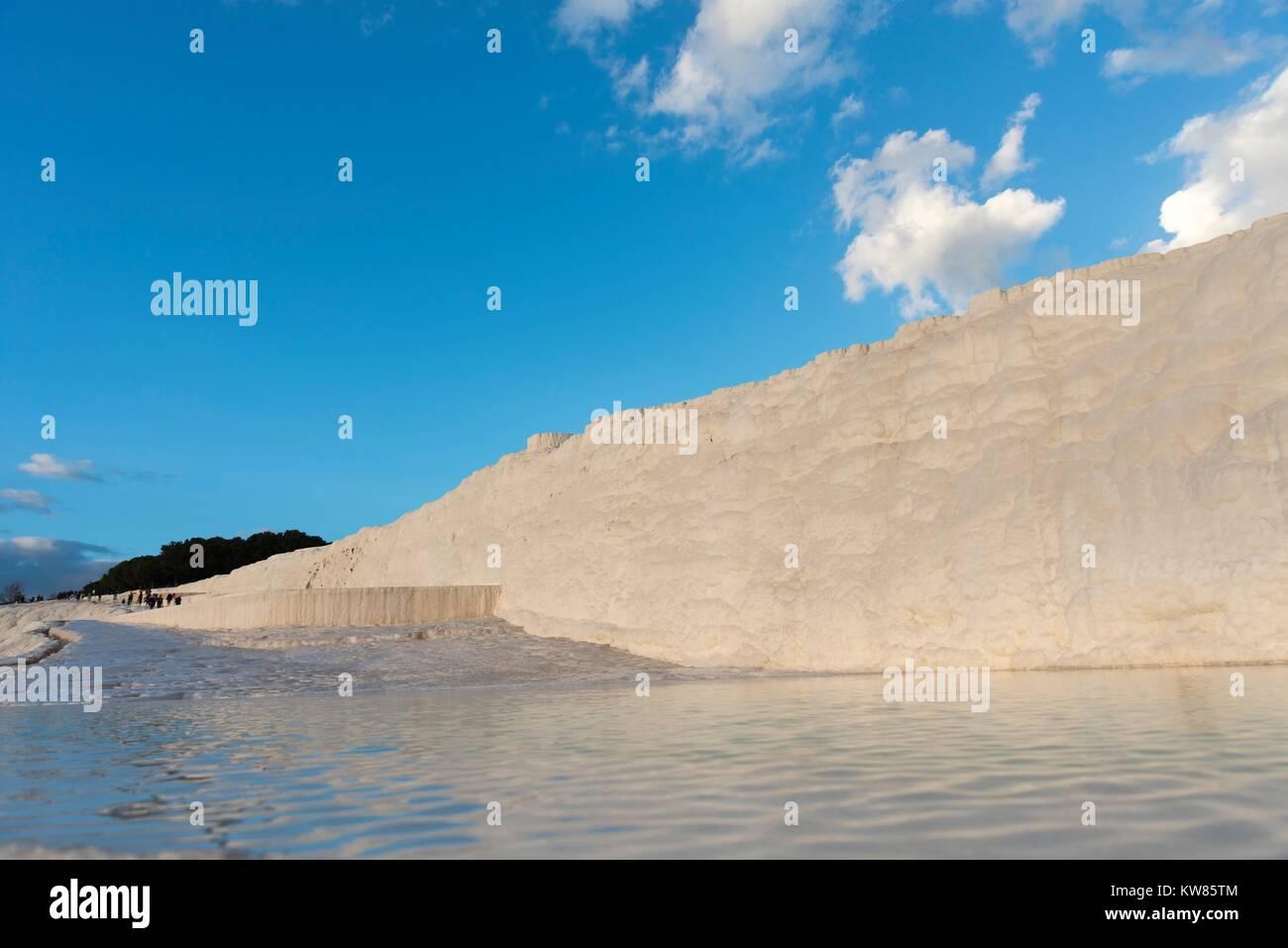 Pamukkale ( Baumwollschloss) Travertine in Denizli Türkei. Stockbild