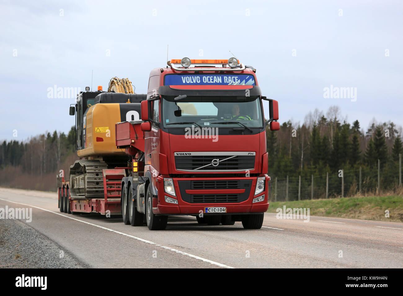Orivesi Finnland 17 Mai 2017 Volvo Fh Semi Hols Cat 336 Fl