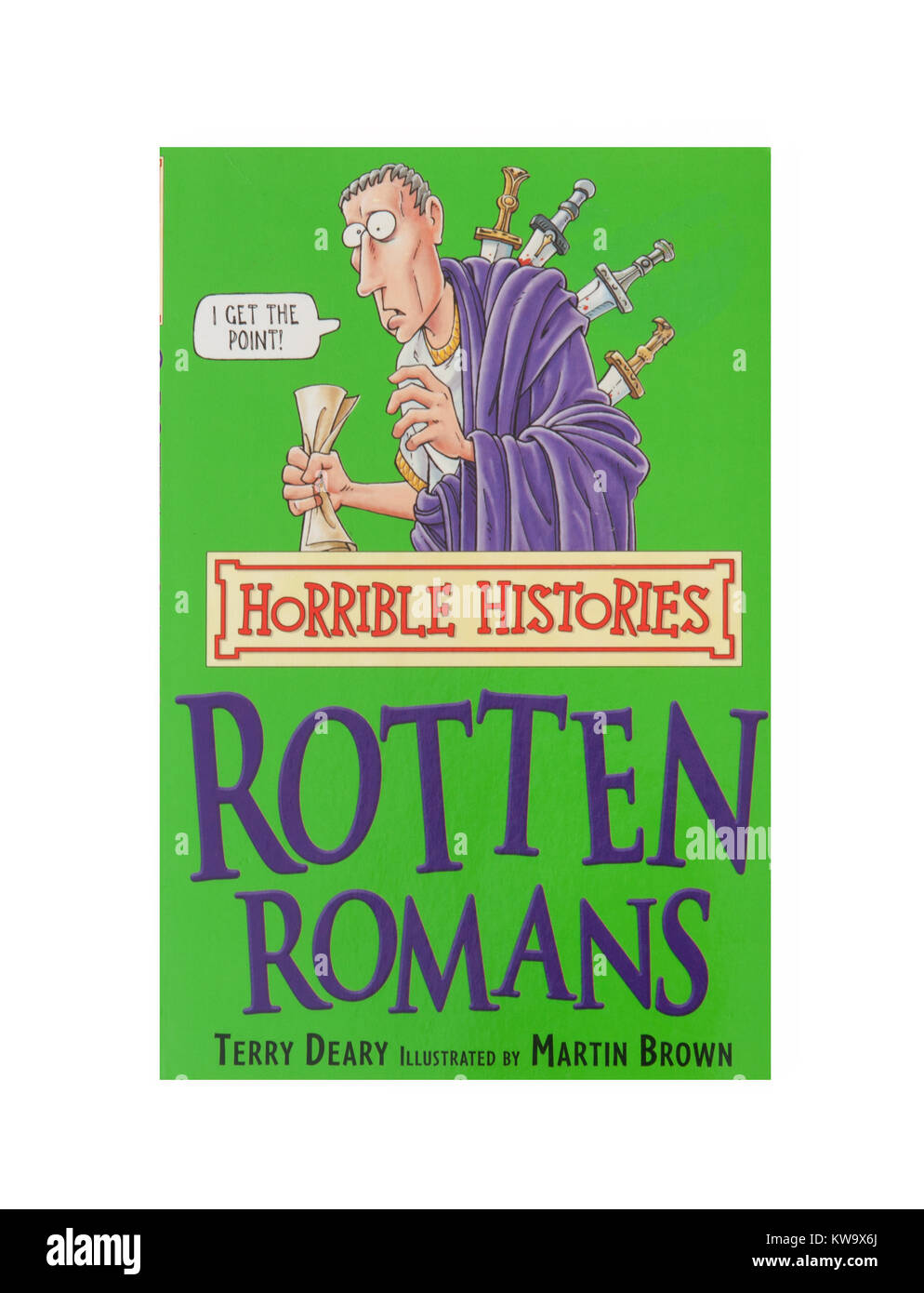 Das Buch, faulen Römer von den grässlichen Geschichten Stockbild