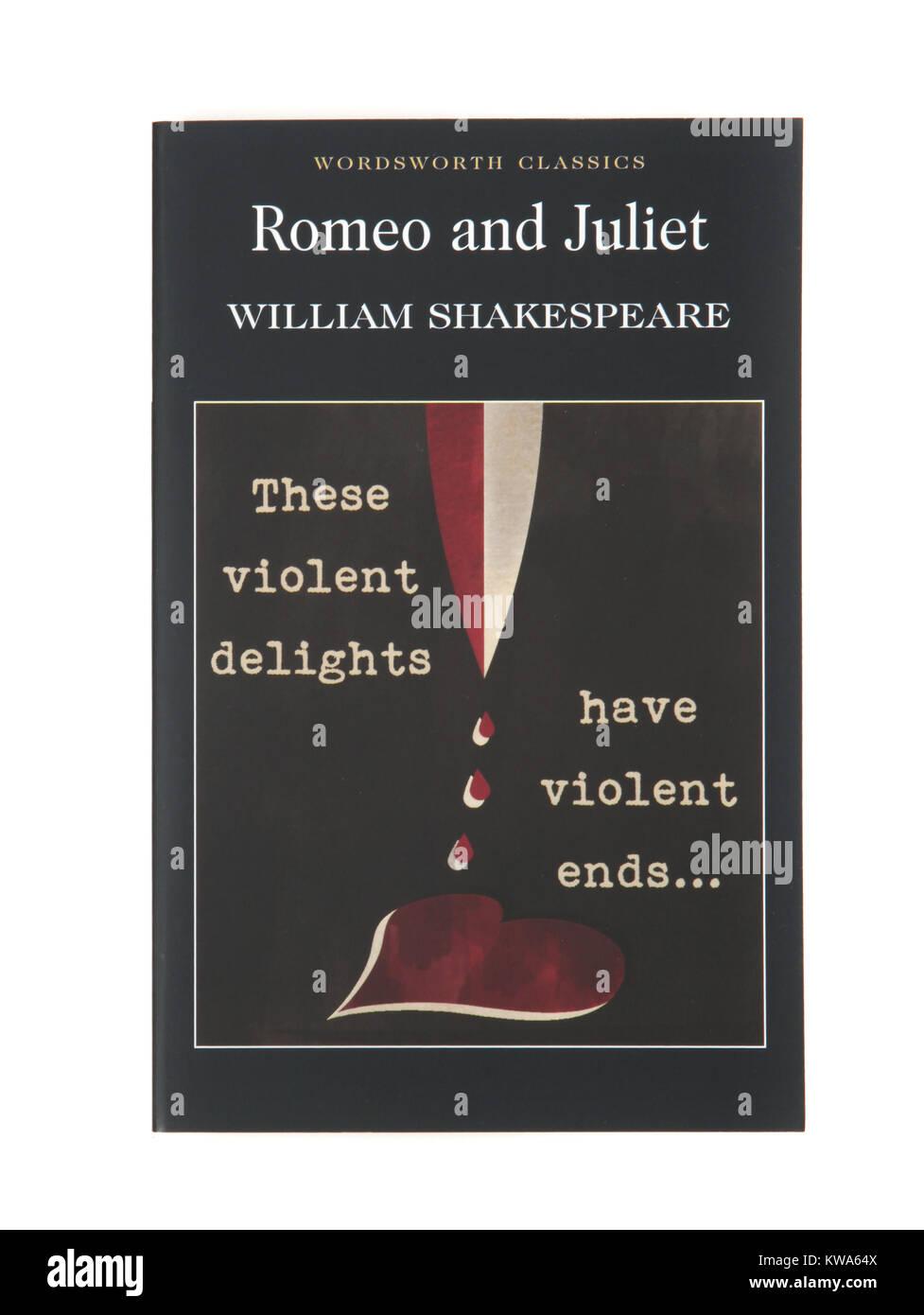 Das Buch der Spielen, Romeo und Julia von William Shakespeare Stockbild