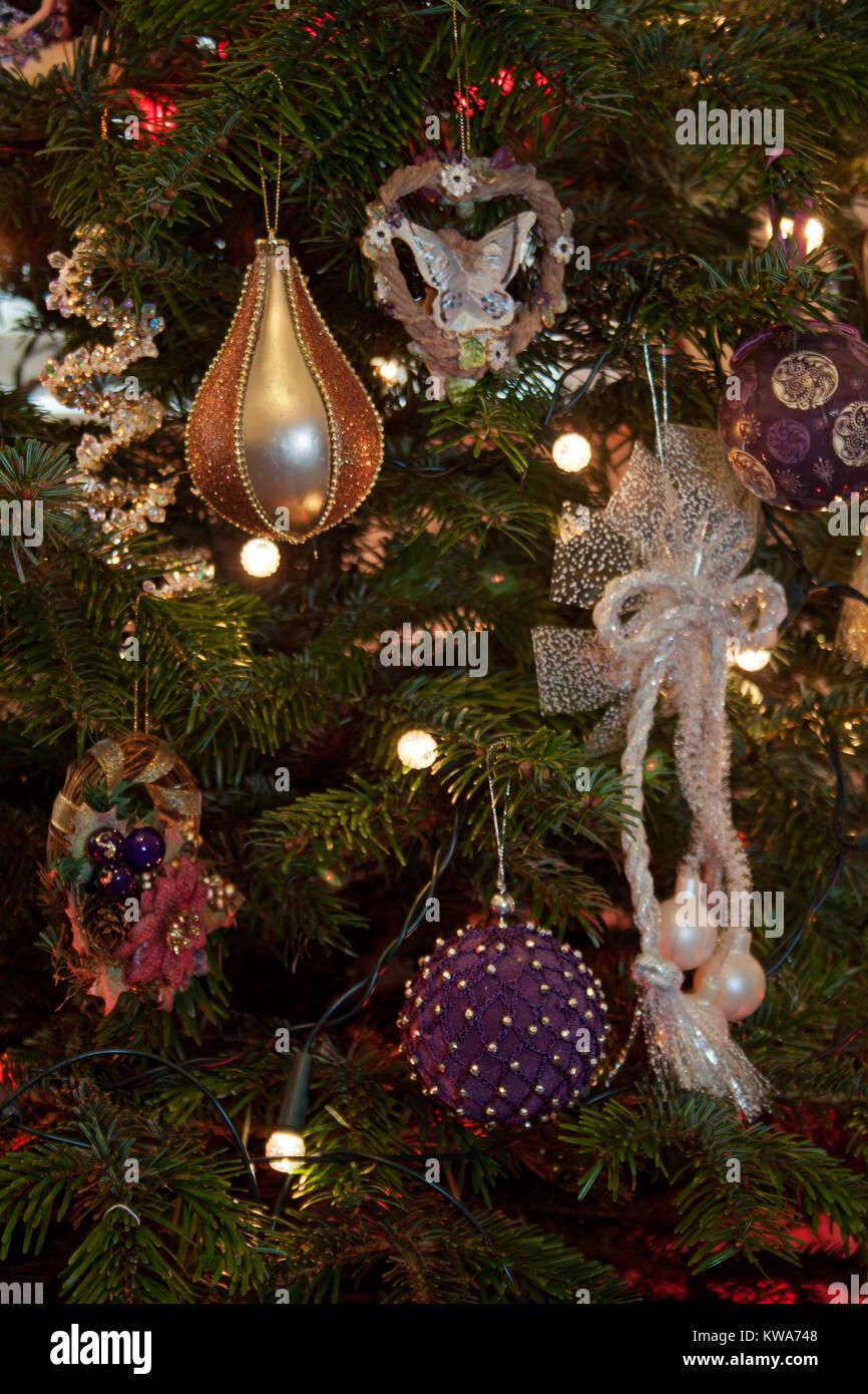 Eine Abstrakte Sicht Auf Weihnachten Dekorationen Auf