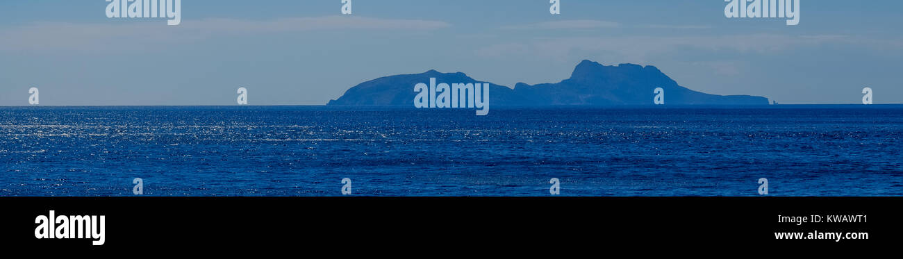 Paxmadia Insel im blauen Meer von Agia Galini, Kreta, Griechenland, Europa, Griechenland, Tympaki, Kreta, Griechenland, Stockbild