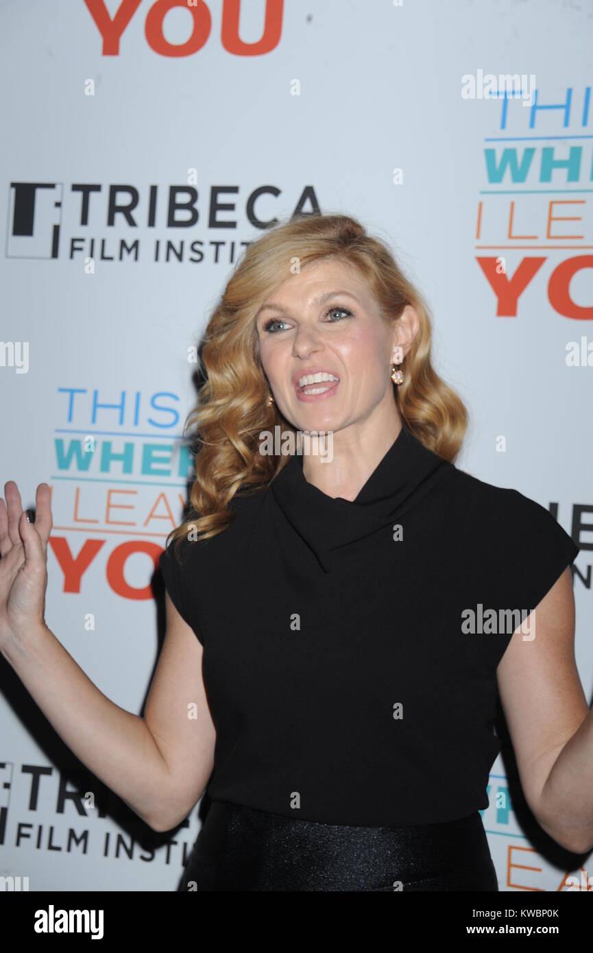 NEW YORK, NY-SEPTEMBER 08: Connie Britton nimmt an den Tribeca Film Institute jährlichen Gala Nutzen & Stockbild