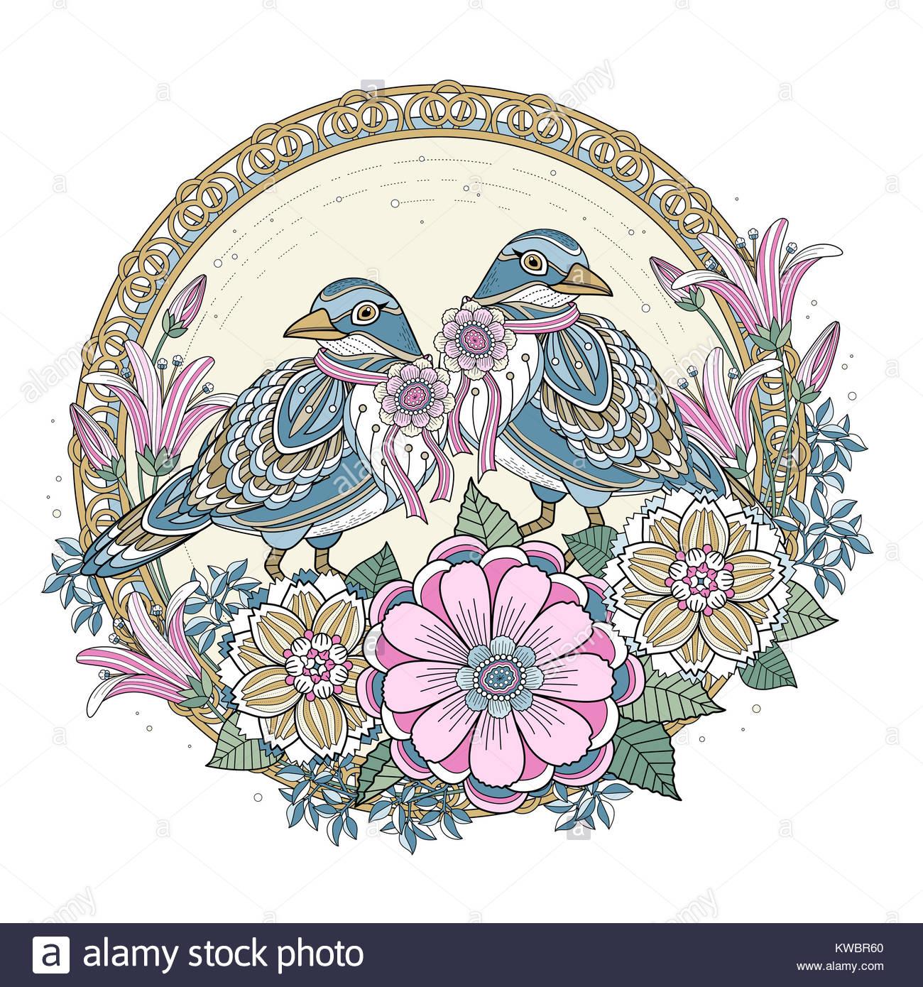 Illustration Line Drawing Blessing Stockfotos & Illustration Line ...