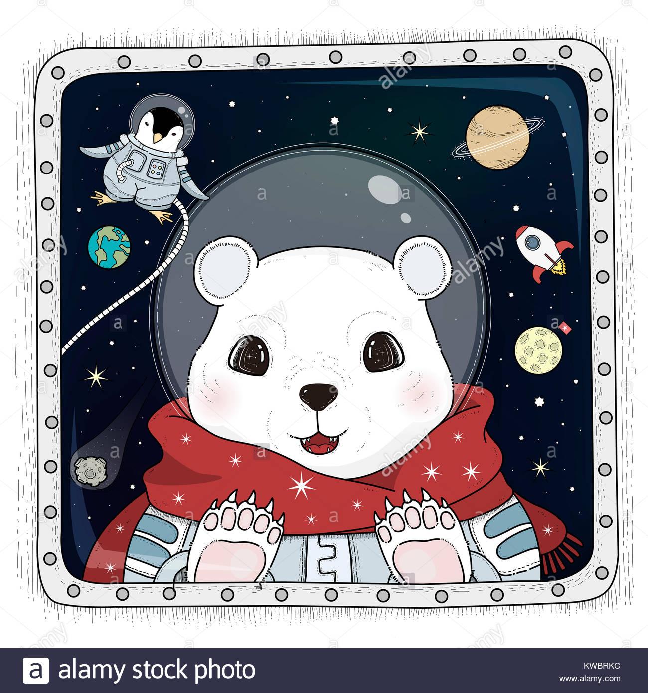 Polar Bear Coloring Page Stockfotos & Polar Bear Coloring Page ...