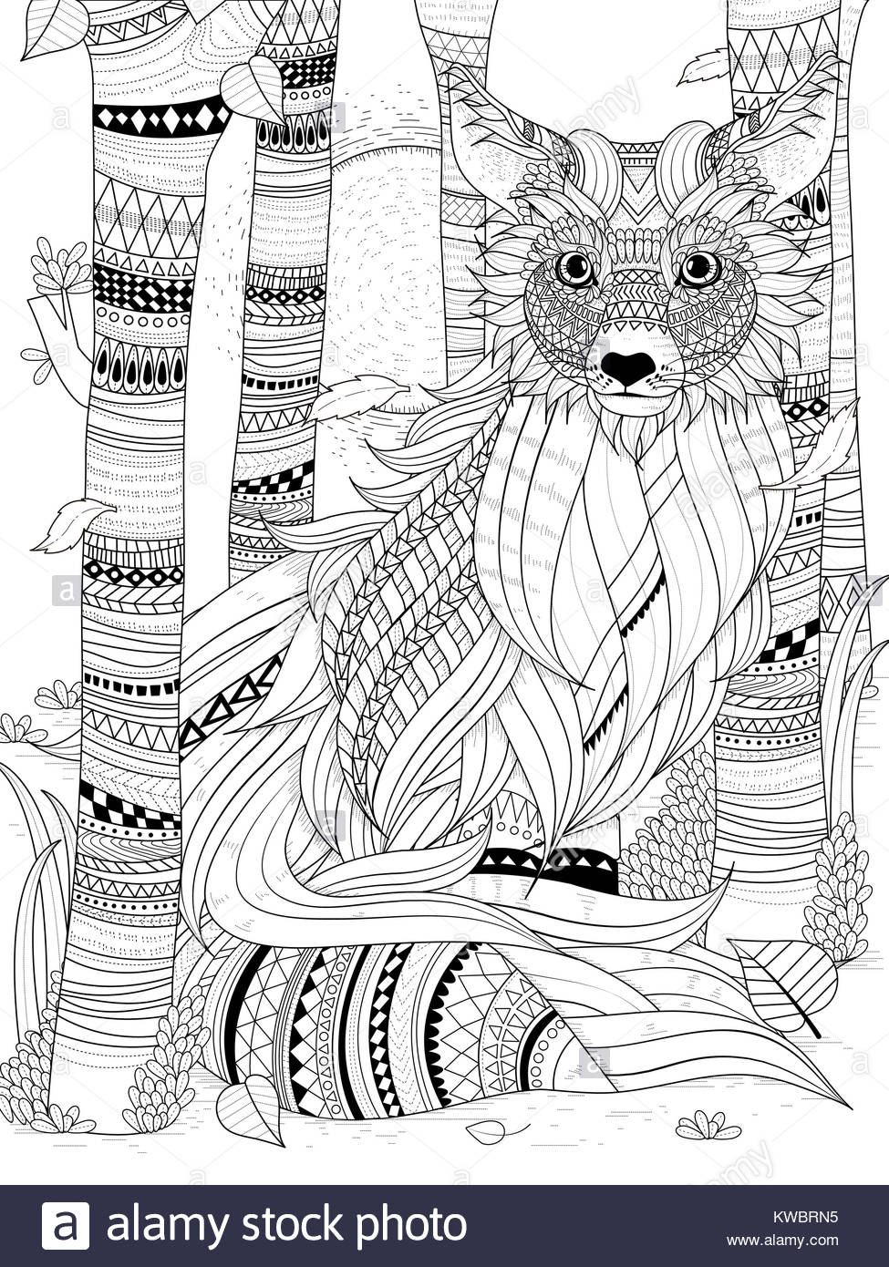 Page In Adult Coloring Book Stockfotos & Page In Adult Coloring Book ...