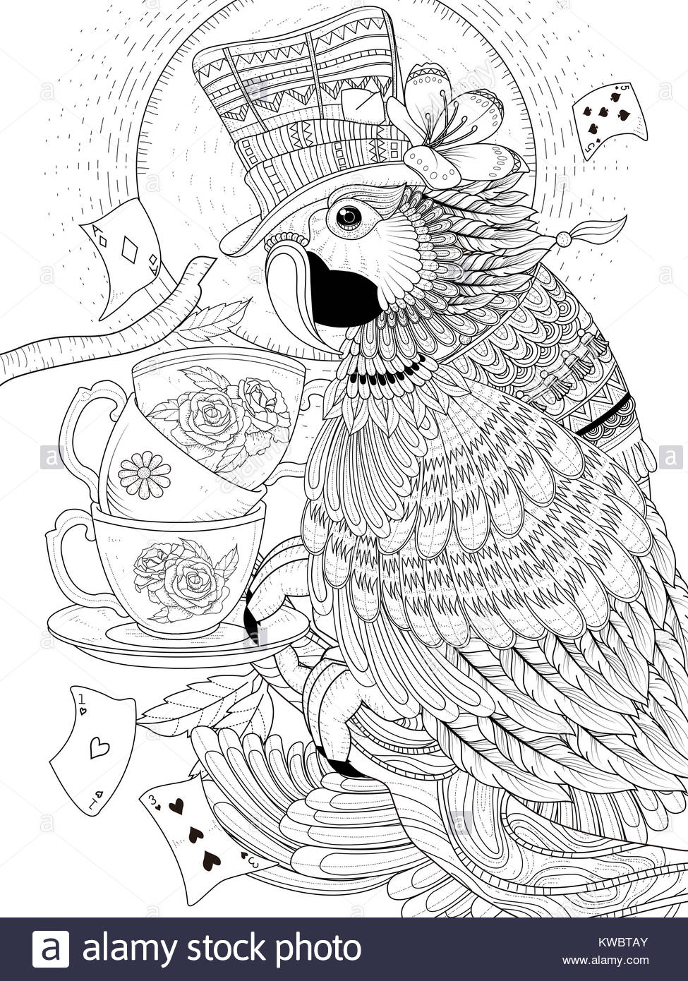 Parrot Vector Stockfotos & Parrot Vector Bilder - Alamy