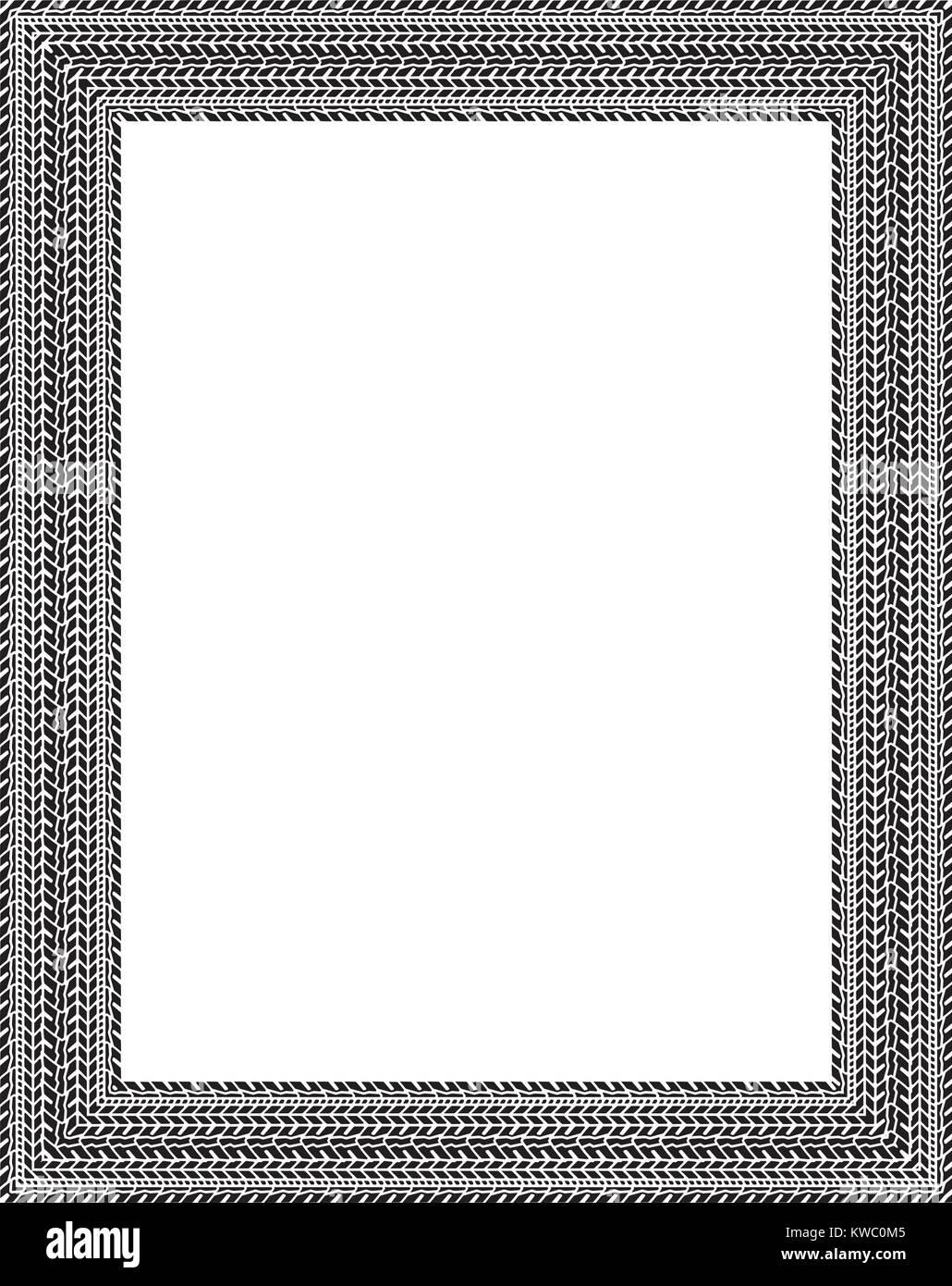 Vektor Rahmen in reifen Spuren Stil Vektor Abbildung - Bild ...