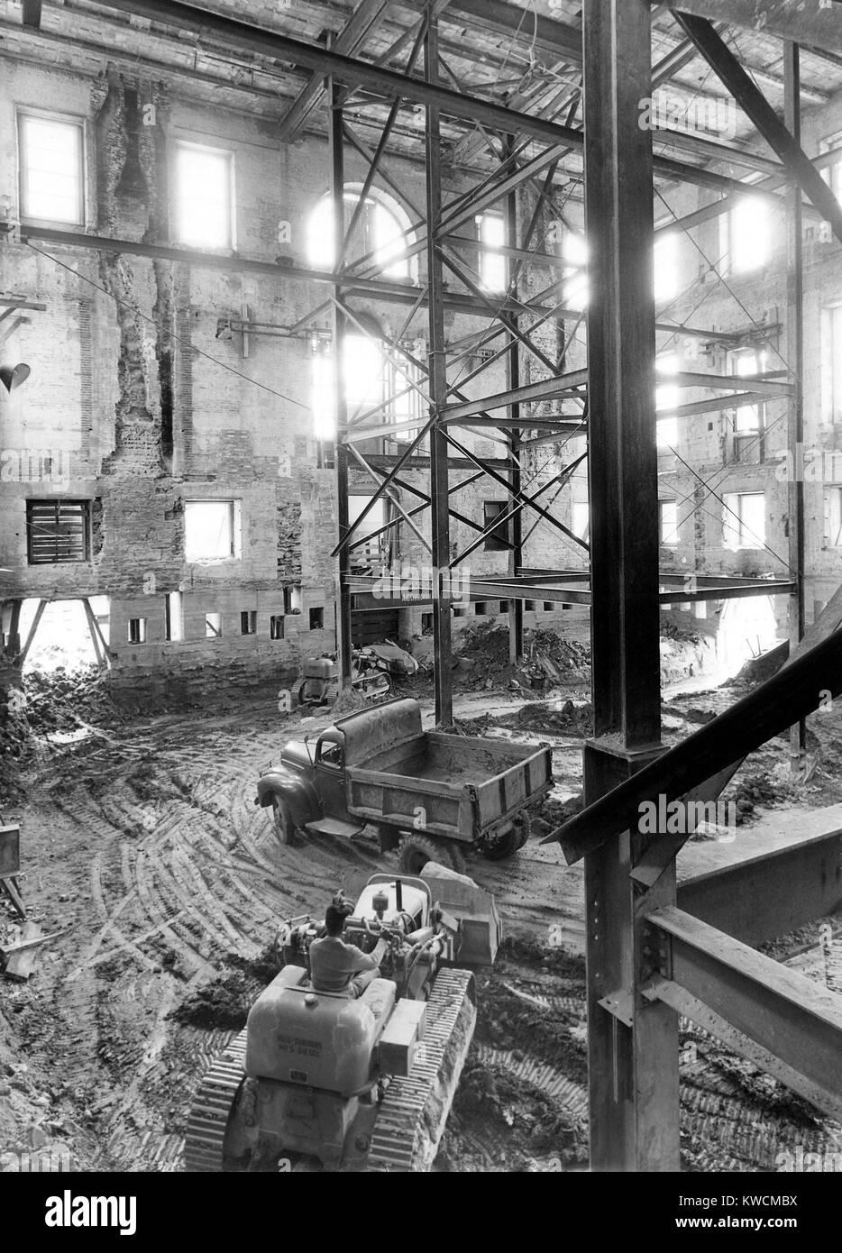 Extrem Renovierung des Weißen Hauses während der Regierung Truman UT61
