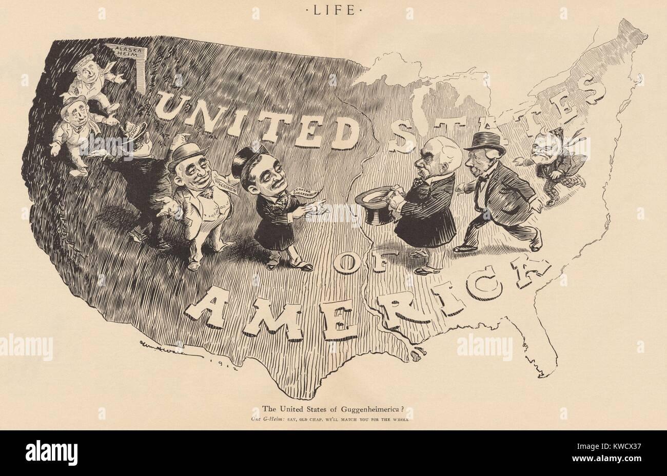 Vereinigten Staaten Von Guggenheimerica Karikatur Von Willard H