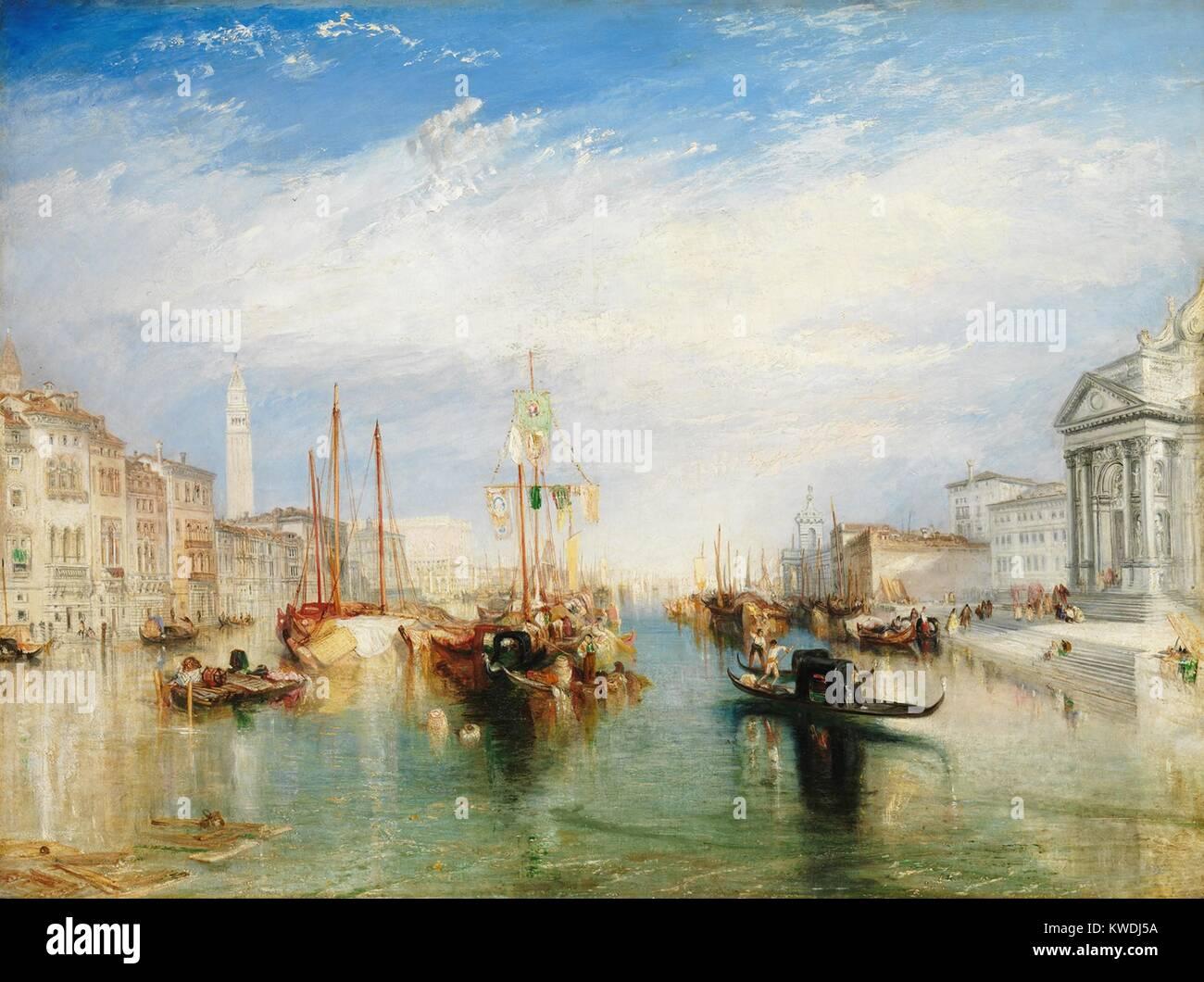 Venedig, VON DER VERANDA DER MADONNA DELLA SALUTE, von Joseph Turner. Britische, Malerei, 1835, Öl auf Leinwand. Stockbild