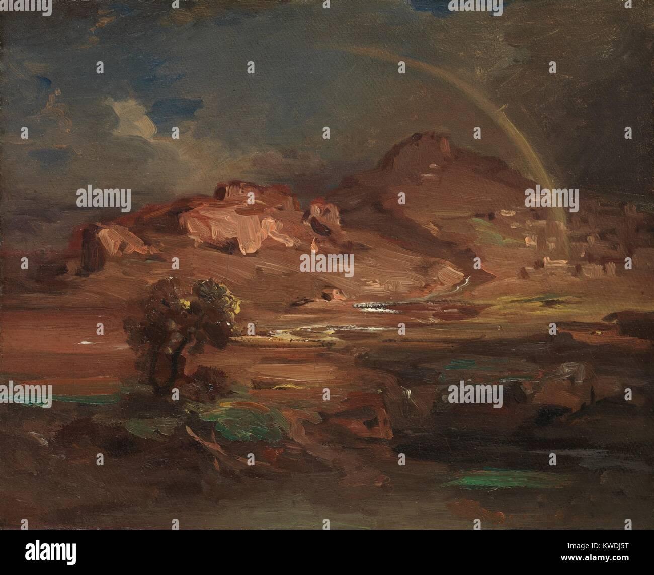 Der Friedhof an der PRONOIA in der Nähe von NAUPLIA, von Carl Rottmann, 1841-47, deutsche Malerei, Öl Stockbild