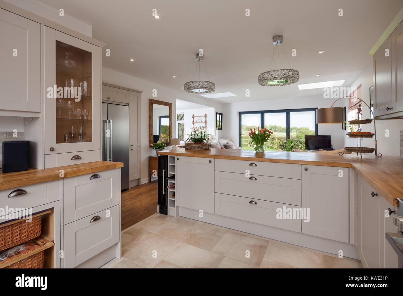 Cupboards Refrigerator In Kitchen Stockfotos & Cupboards ...