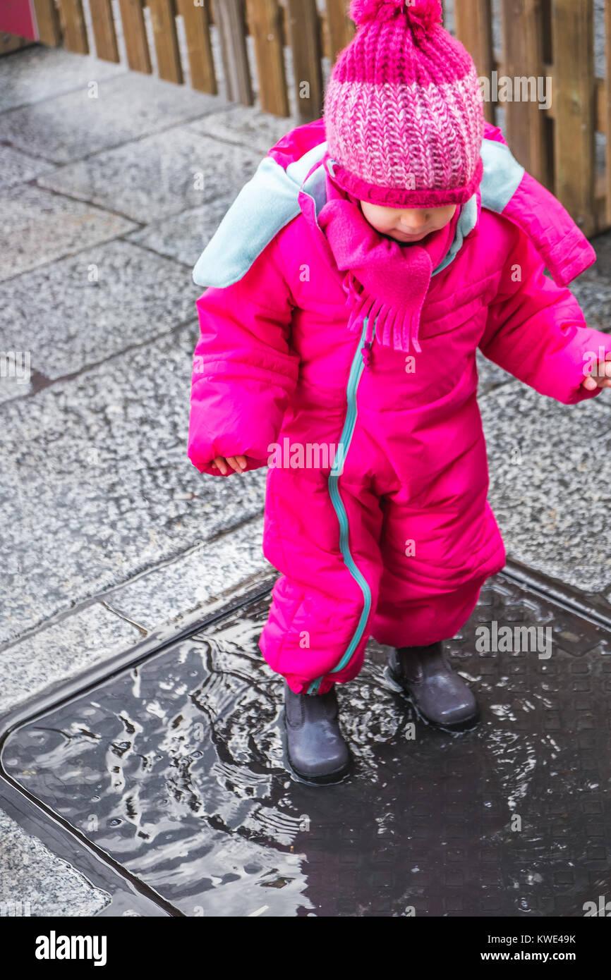 buy popular 4c2df 2ff5b Baby girl Pfütze rosa Winter Kleidung stiefel Weiblich ...