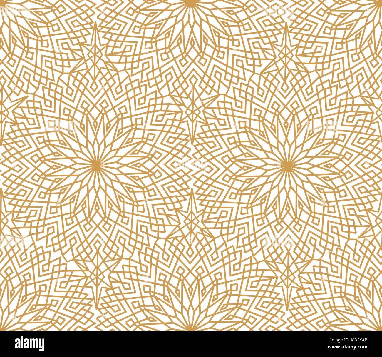 abstrakt floral-orientalische nahtlose muster. arabische fliesen