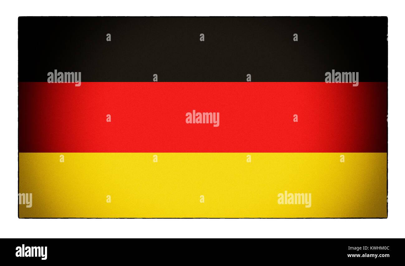 Einer beunruhigten Deutsche Flagge Stockbild