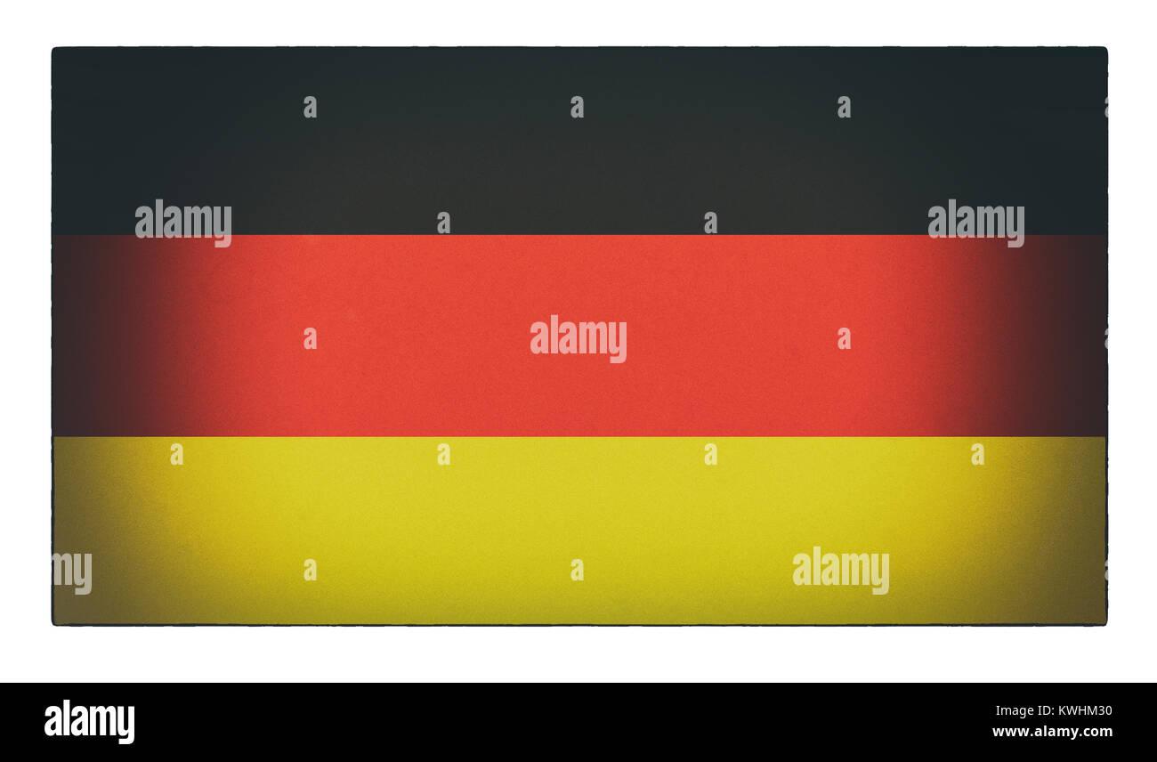 Eine alte distressed Deutsche Flagge Stockbild