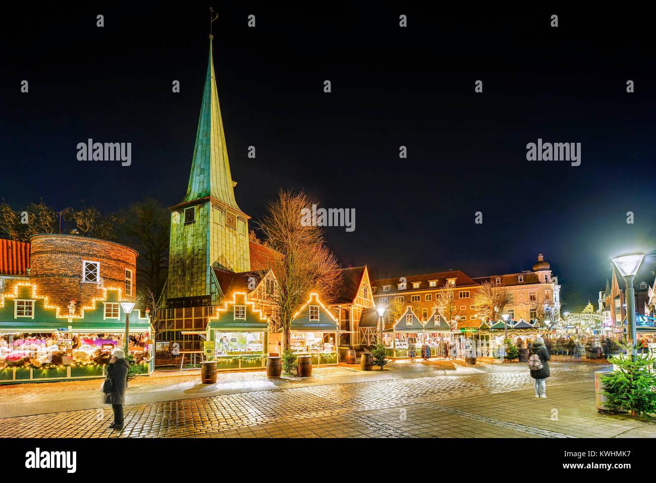 Hamburg Weihnachtsmarkt 2019.Weihnachtsmarkt In Bergdorf Hamburg Deutschland Europa