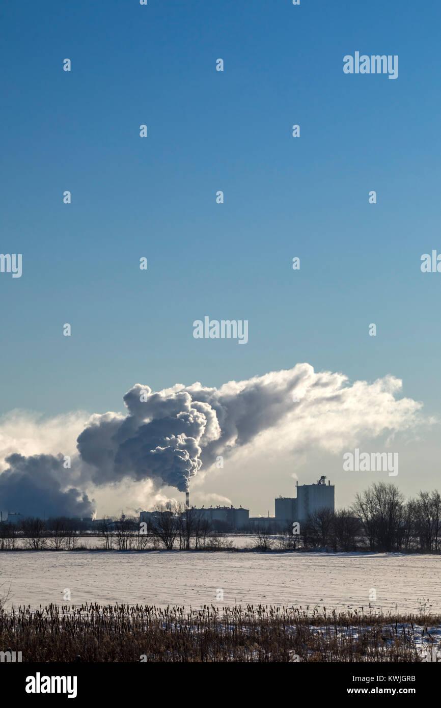 Annawan, Illinois - die CHS-Inc. Ethanol Pflanze, ehemals Patriot erneuerbaren Kraftstoffen. Die Anlage macht mehr Stockbild