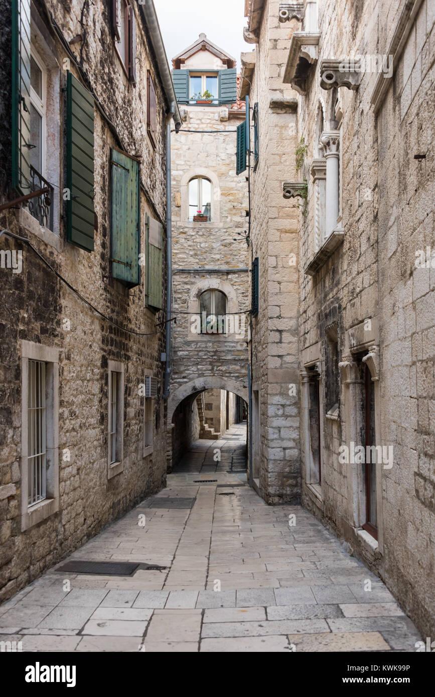 Papaliceva Street, Spiel der Throne Lage, Split, Kroatien Stockbild