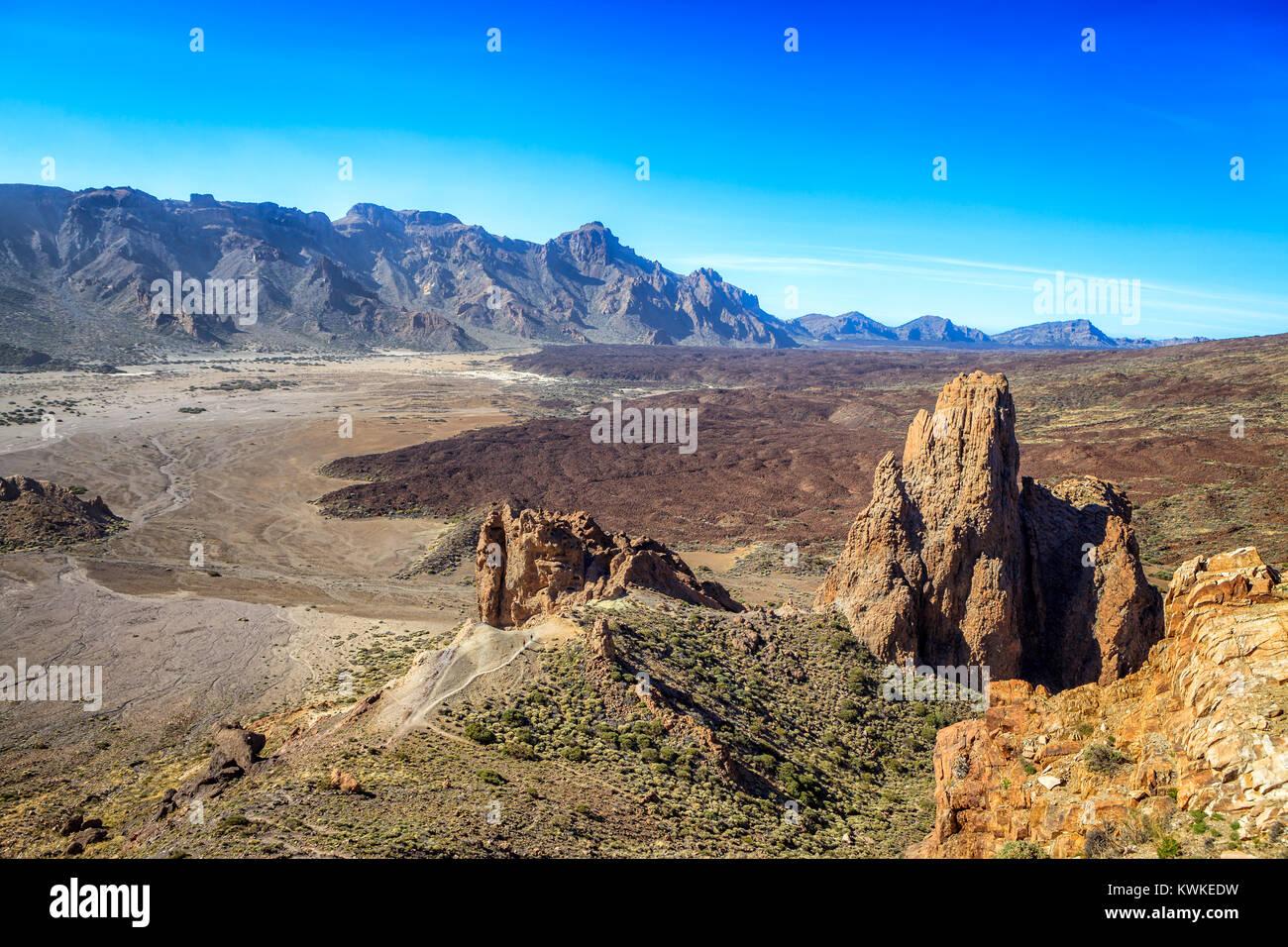 El Teide, Teneriffa, Kanaren, Spanien Stockbild
