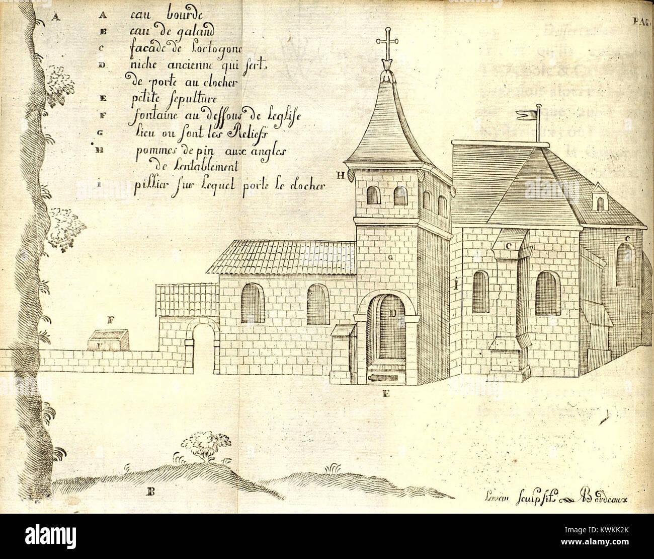 Jaubert-Dissertation sur un-Tempel octogone et plusieurs Reliefs trouvez à Dijon, Tiefdruck p44 Stockbild