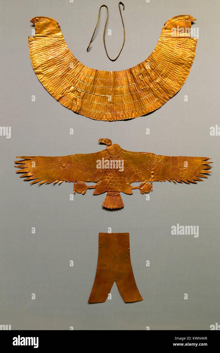 Grabkunst Ausrüstungsgegenstände von drei ausländischen Ehefrauen von Thutmosis III., Metropolitan Stockbild