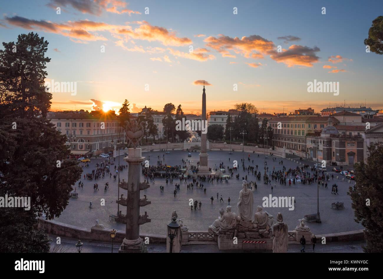 Rom (Italien) - Das historische Zentrum von Rom. Hier insbesondere ...