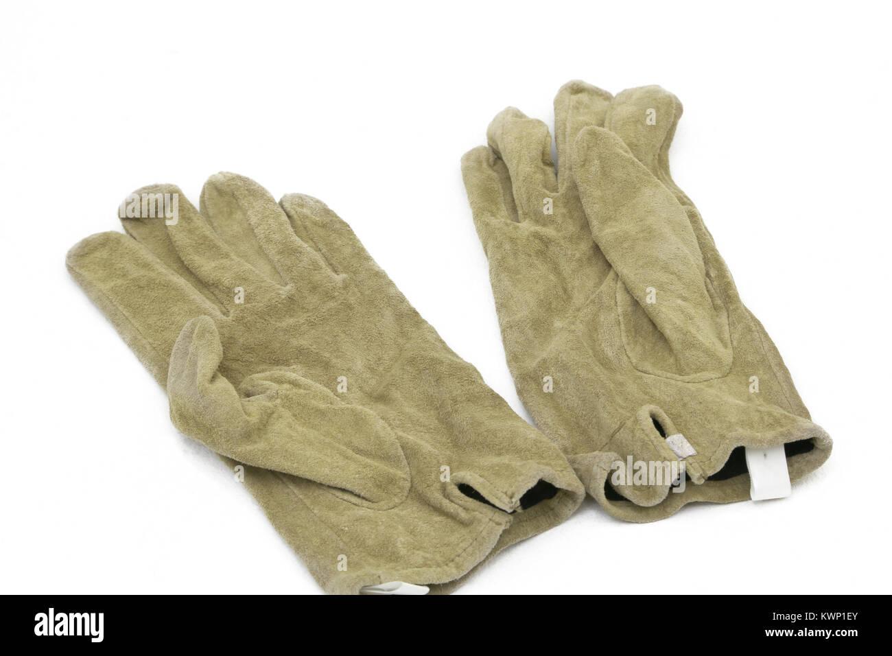 Ein Paar Herren Leder Handschuhe Stockbild