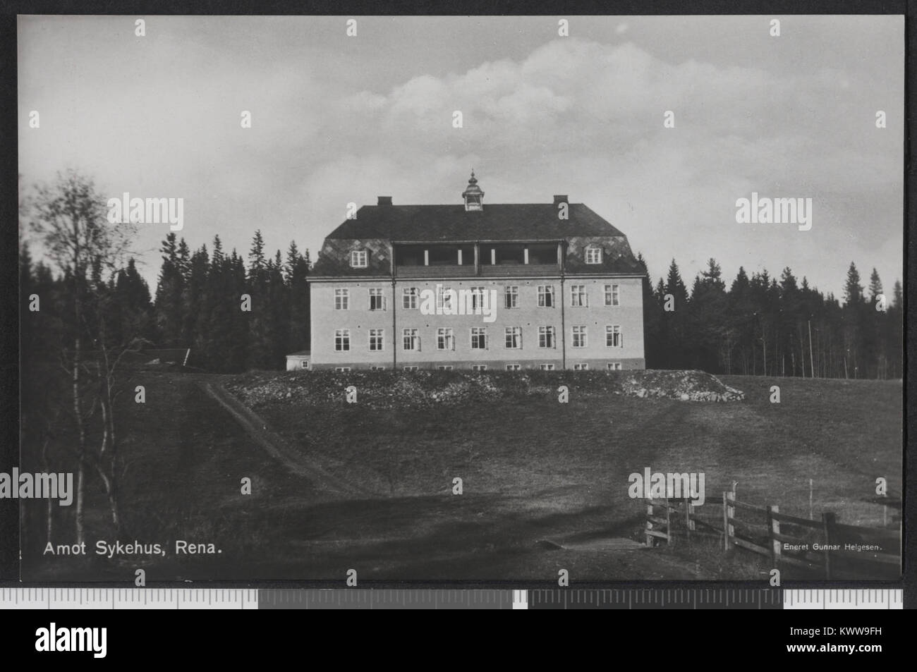 Åmot Sykehus, Rena-no-nb DigiFoto-Maker bldsa PK 30011 00088 20150810 Stockfoto