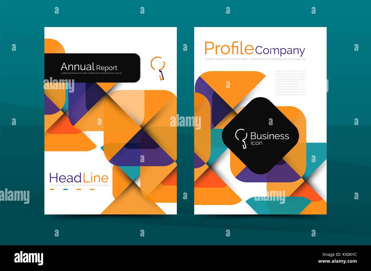 Company Profile Template Cover Design Stockfotos & Company Profile ...