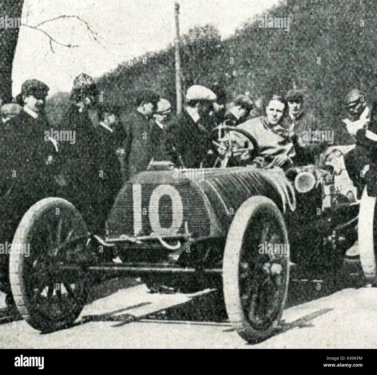 Sidney Girling, Deuxième qualifié des éliminatoires anglaises De la Coupe Gordon Bennett 1904, sur Stockbild