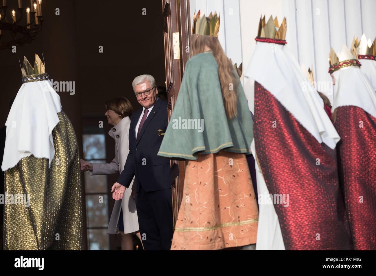 Berlin, Deutschland. 6. Januar, 2018. Deutsche Präsident Frank ...